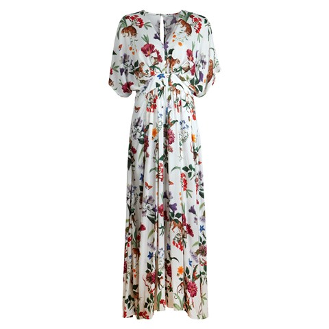 White Floral Long Dress