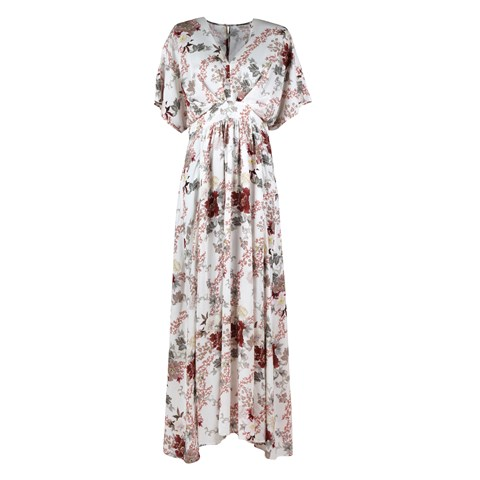 Victoria Romantic Floral Long Dress
