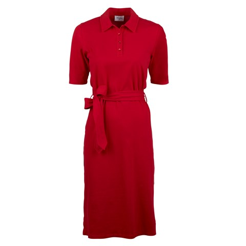 Red Piquet Dress