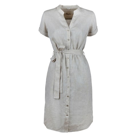 Light Beige Linen Dress