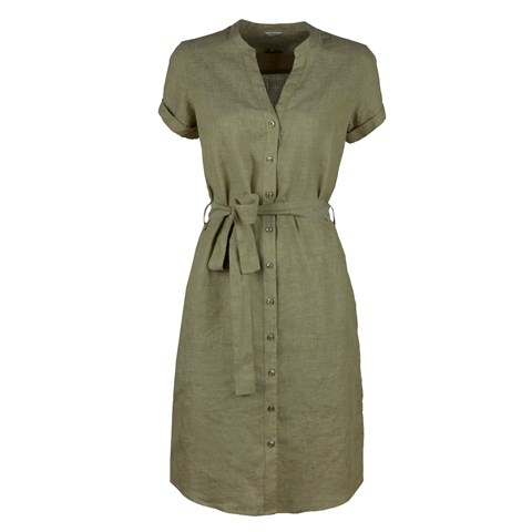 Pale Green Linen Dress