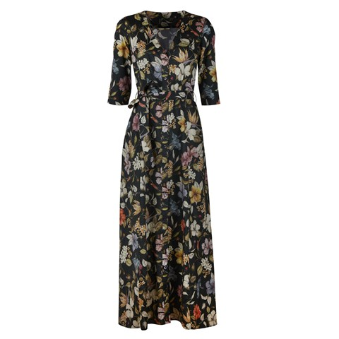 Alina Dress Black Floral
