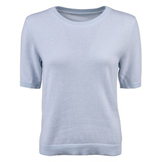 Light Blue Cashmere Top