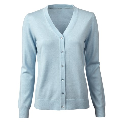 Blue Silk Cashmere Cardigan