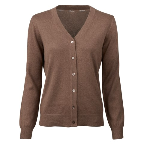 Brown Silk Cashmere Cardigan