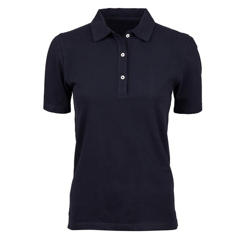Navy Cotton Piquet With Buttons