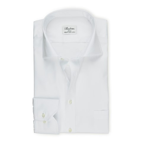 White Classic Shirt In Superior Twill