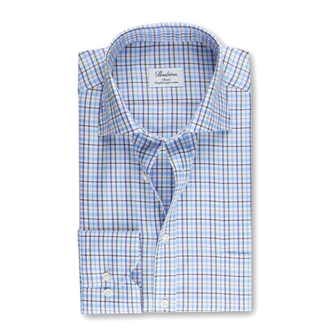 Green/Blue Checked Classic Shirt