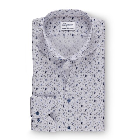 Classic Shirt With Leaf Pattern