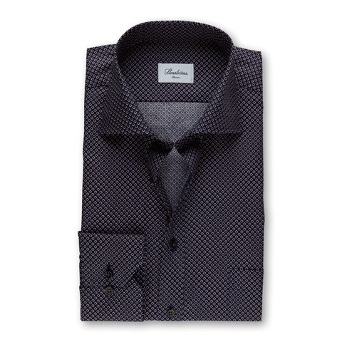 Navy Dotted Classic Shirt