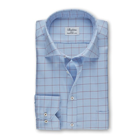 Light Blue Classic Shirt With Pattern