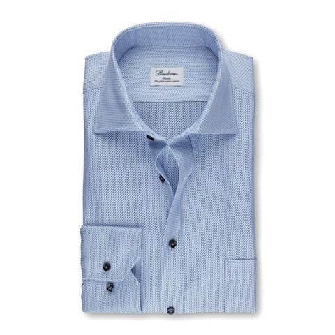 Blue Micro Patterned Classic Shirt