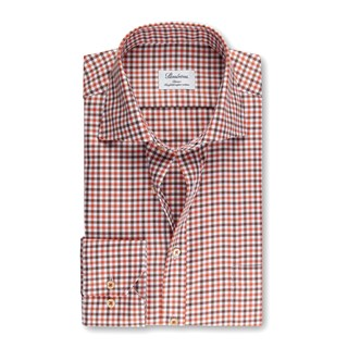 Orange Checked Classic Shirt