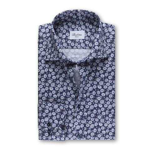 Navy Floral Classic Shirt