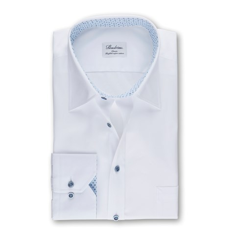 White Classic Shirt With Contrast