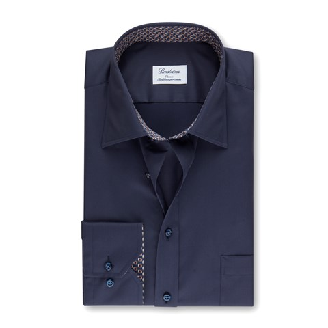 Navy Classic Shirt w. Contrast