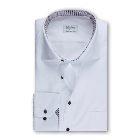 White Classic Shirt W Contrast
