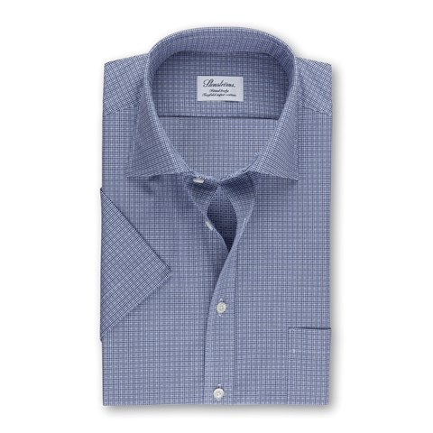 Checked Fitted Body Shirt, Short Sleeves