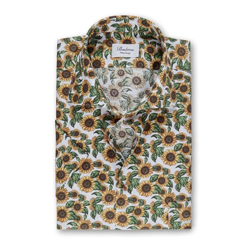 Sunflower Fitted Body Shirt, Short Sleeves