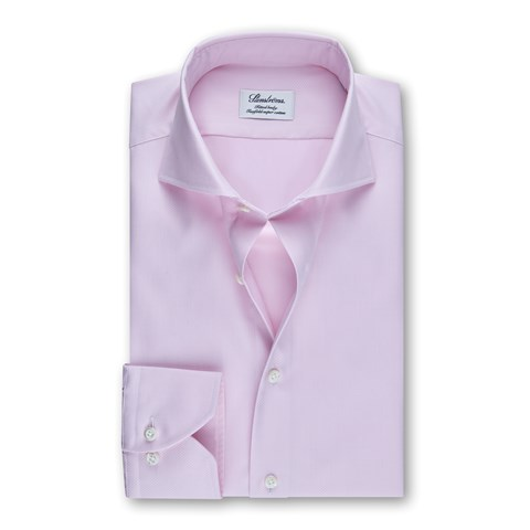 Pink Textured Fitted Body Shirt