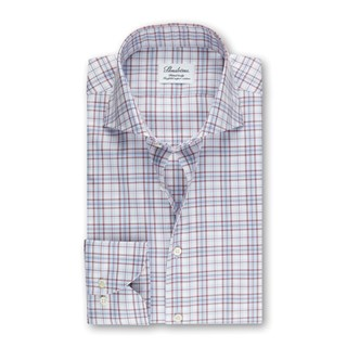 Checked Fitted Body Shirt