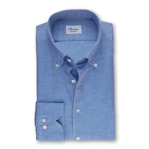 Blue Mélange Fitted Body Shirt