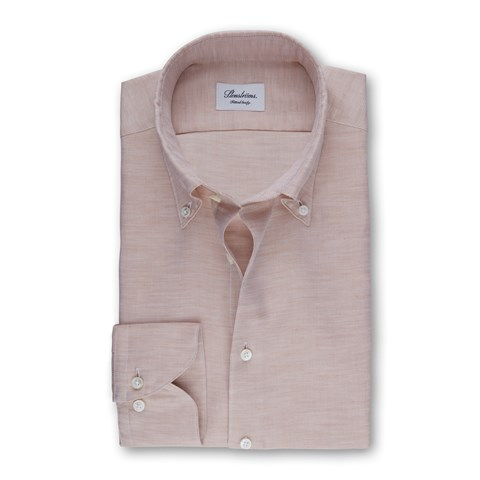 Sand Mélange Fitted Body Shirt