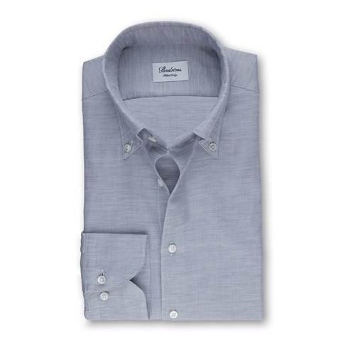Grey Mélange Fitted Body Shirt