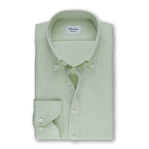 Green Mélange Fitted Body Shirt