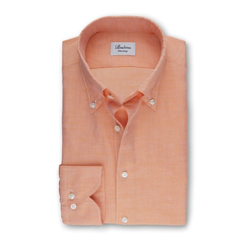 Orange Mélange Fitted Body Shirt