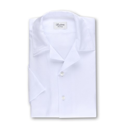 White Fitted Body Shirt, Short Sleeves