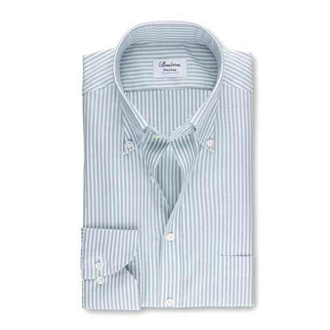 Striped Fitted Body Shirt In Oxford Stretch