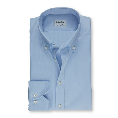 Light Blue Fitted Body Shirt In Pinpoint Oxford