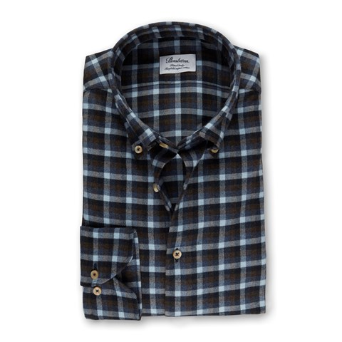 Checked Fitted Body Shirt In Luxury Flannel