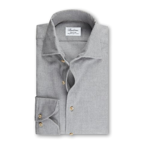 Grey Flannel Fitted Body Shirt