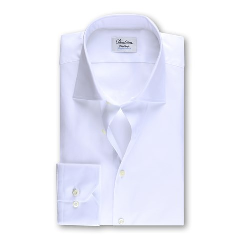 Fitted Body Shirt White, Twofold Stretch