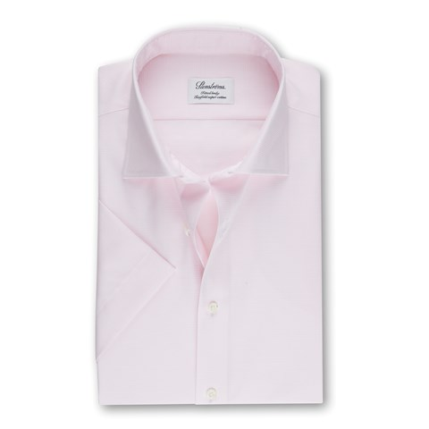 Light Pink Fitted Body Shirt, Short Sleeves