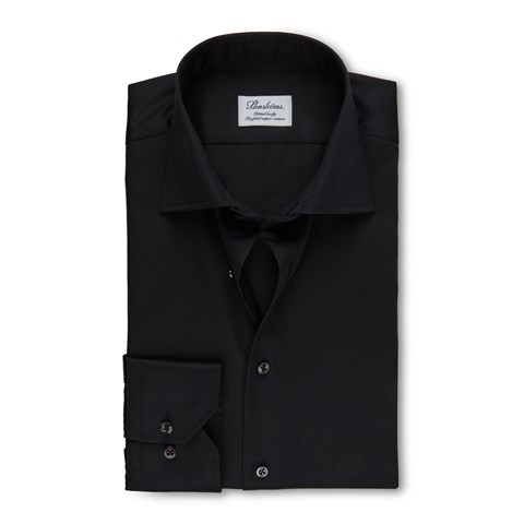 Black Fitted Body Shirt