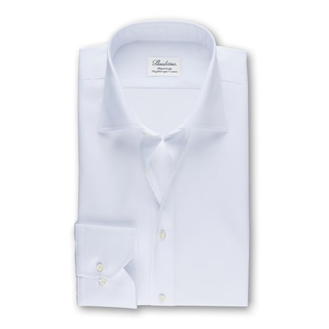 White Fitted Body Shirt