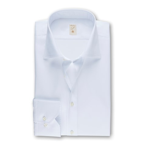 Stenströms 120 jubilee - White Fitted Body Shirt In Superior Twill