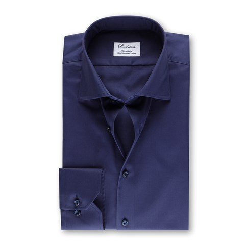 Fitted Body Shirt In Superior Twill Navy