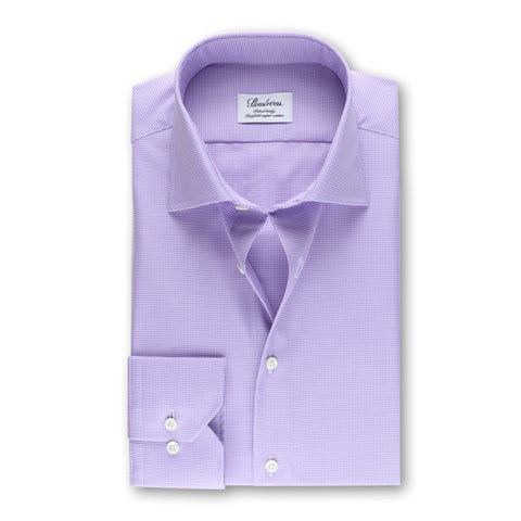 Fitted Body Shirt Houndstooth Purple