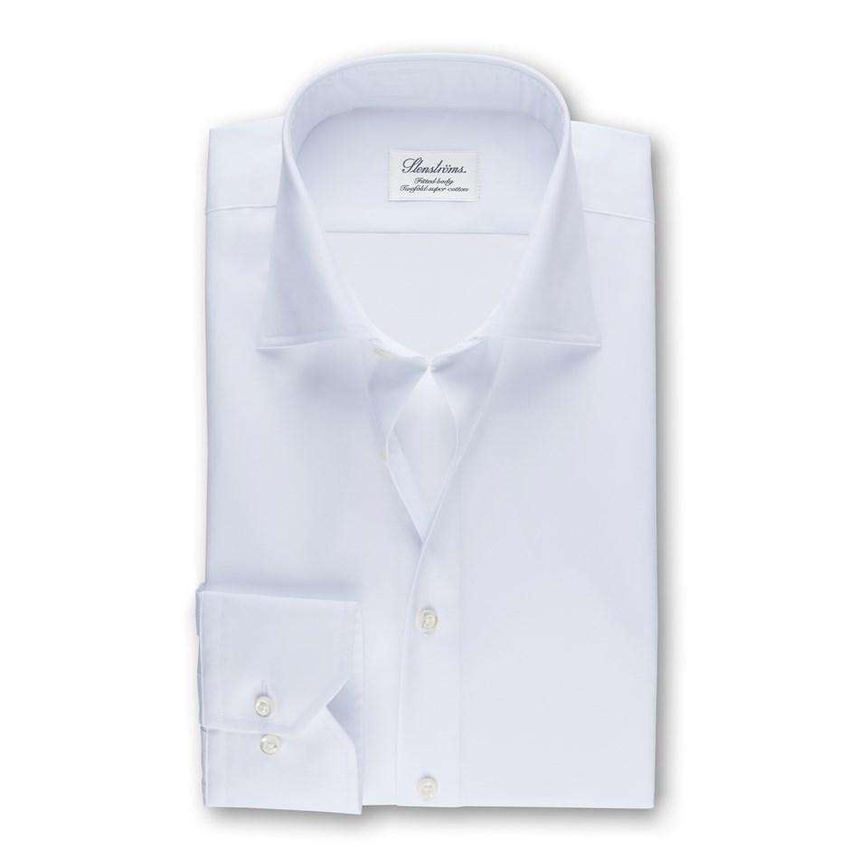 877e0cbaa46 White Fitted Body Shirt