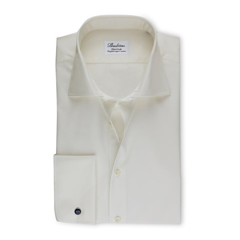 Off-White Fitted Body Shirt With French Cuffs