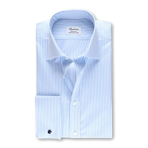 Striped Fitted Body Shirt, Double Cuffs