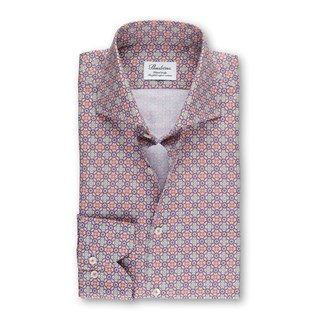 Colorful Patterned Fitted Body Shirt