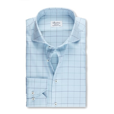 Green Window Pane Fitted Body Shirt