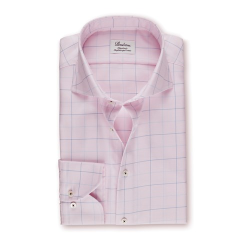 Fitted Body Shirt Pink Window Pane