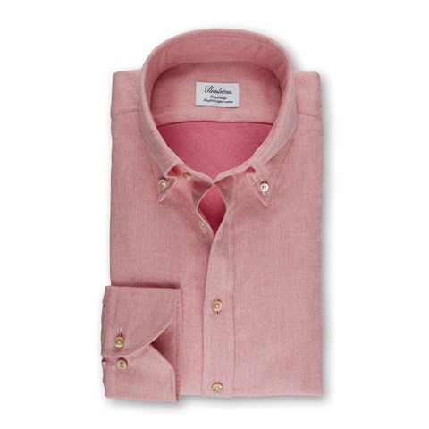 Pink Flannel Fitted Body Shirt