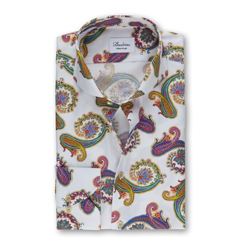 Paisley Fitted Body Shirt